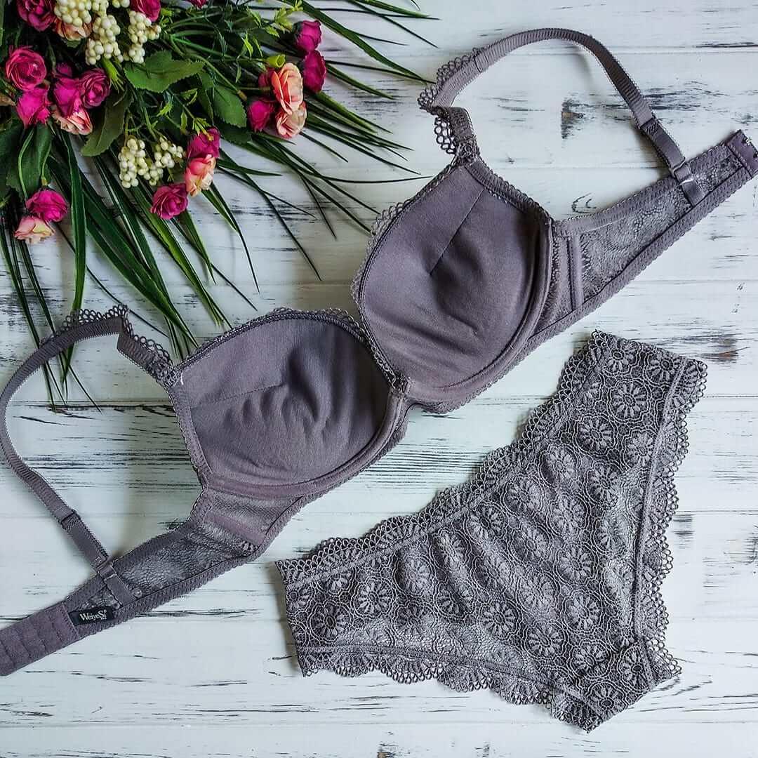 Weiyesi 726 C Серо-розовый - комплект нижнего белья