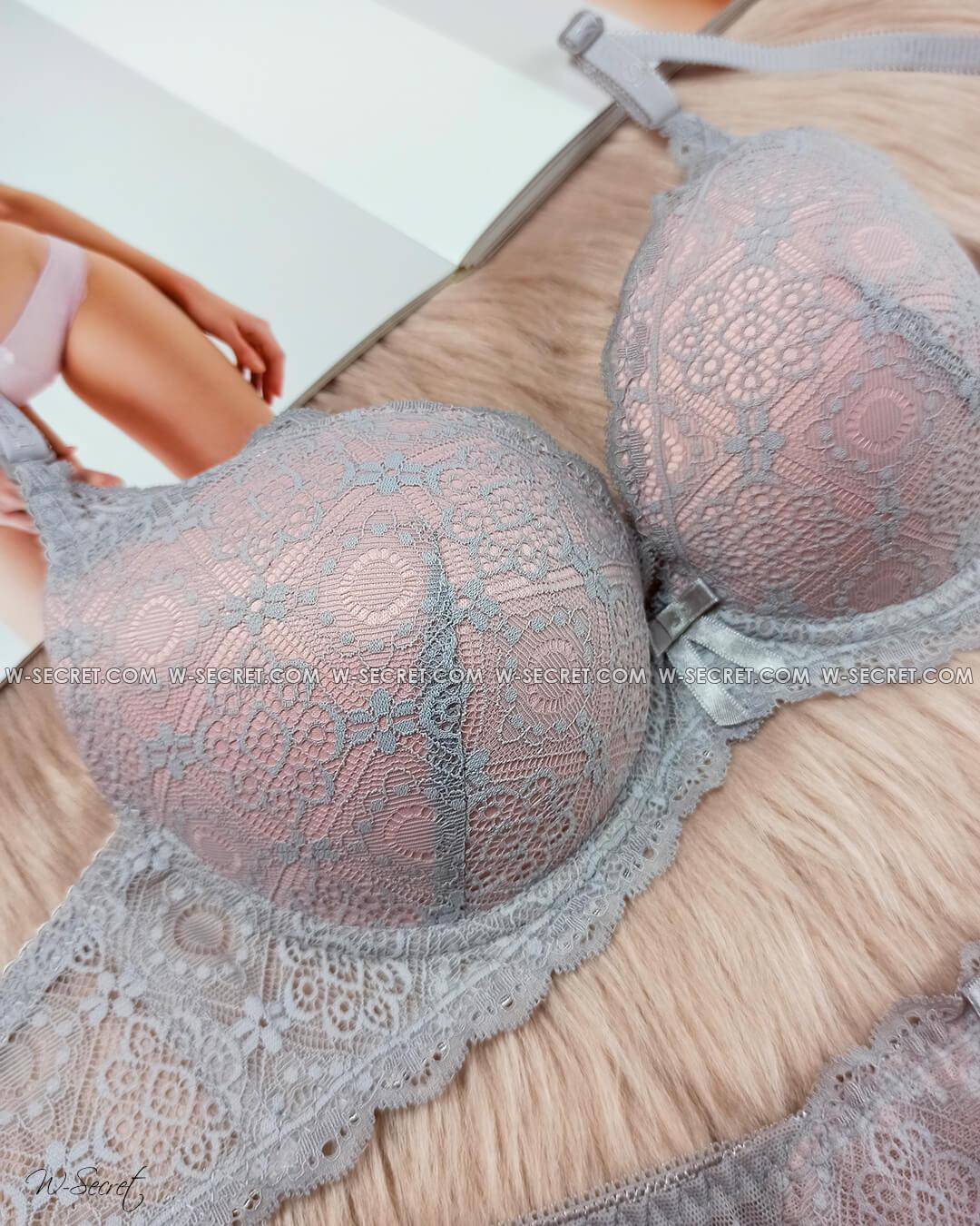 Weiyesi 7006 В Серо-розовый - комплект нижнего белья