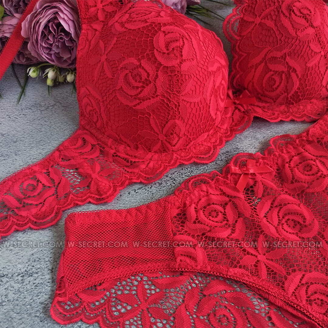 Weiyesi 8078 C Красный комплект нижнего белья