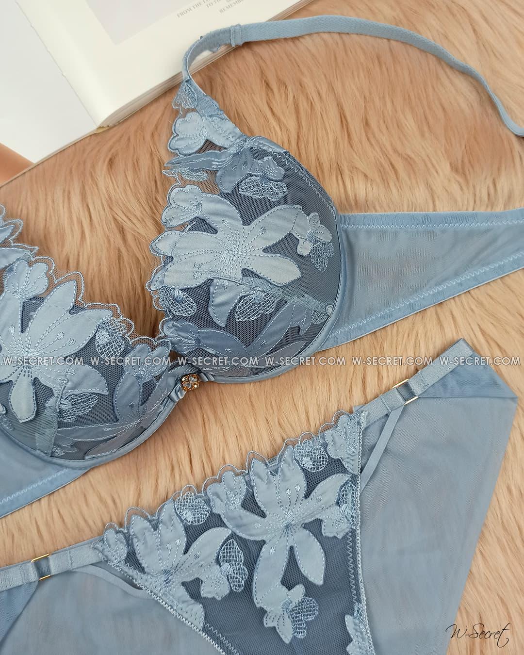 Weiyesi 2125 B Блакитний комплект нижньої білизни