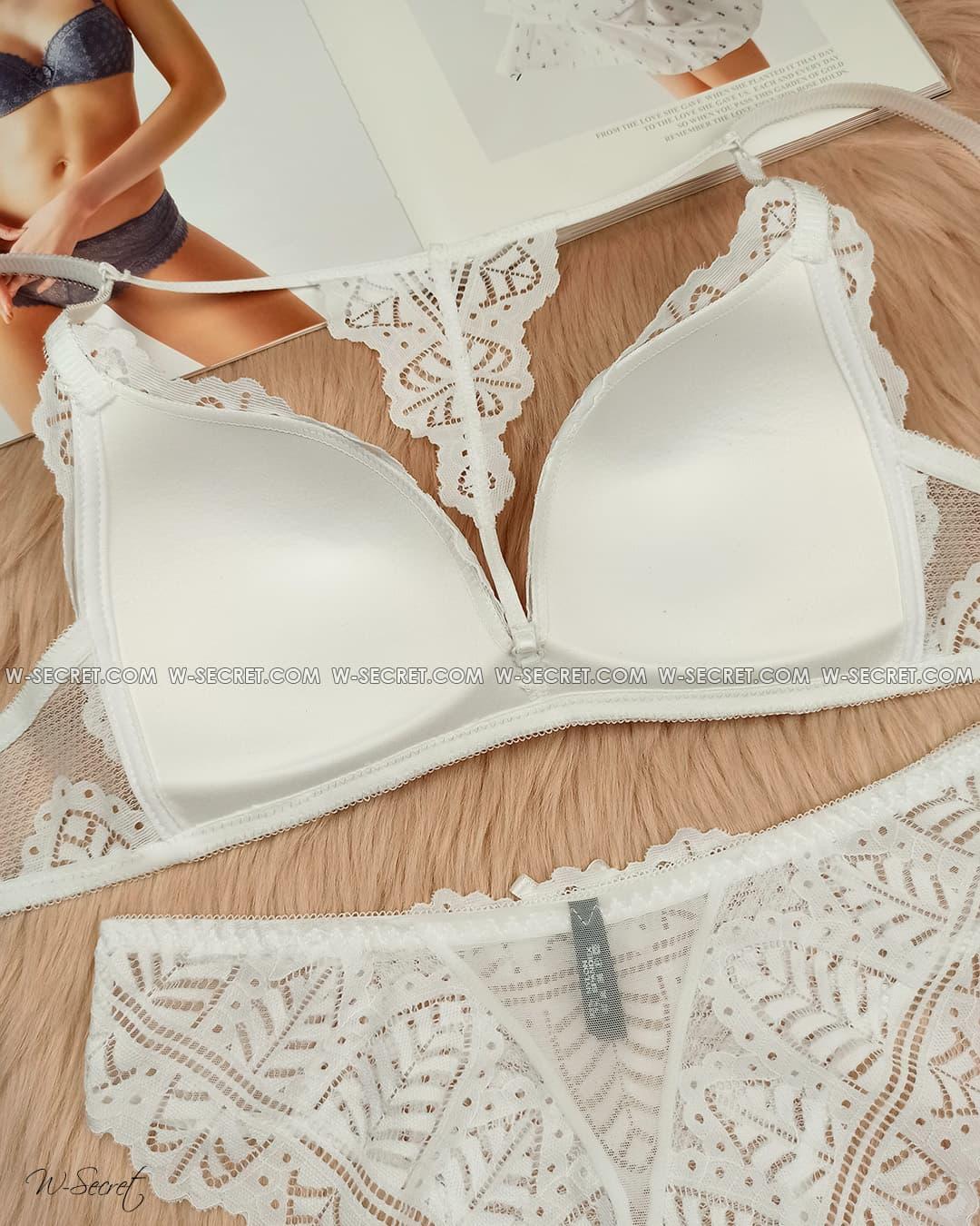 Weiyesi 5987 B Белый комплект нижнего белья