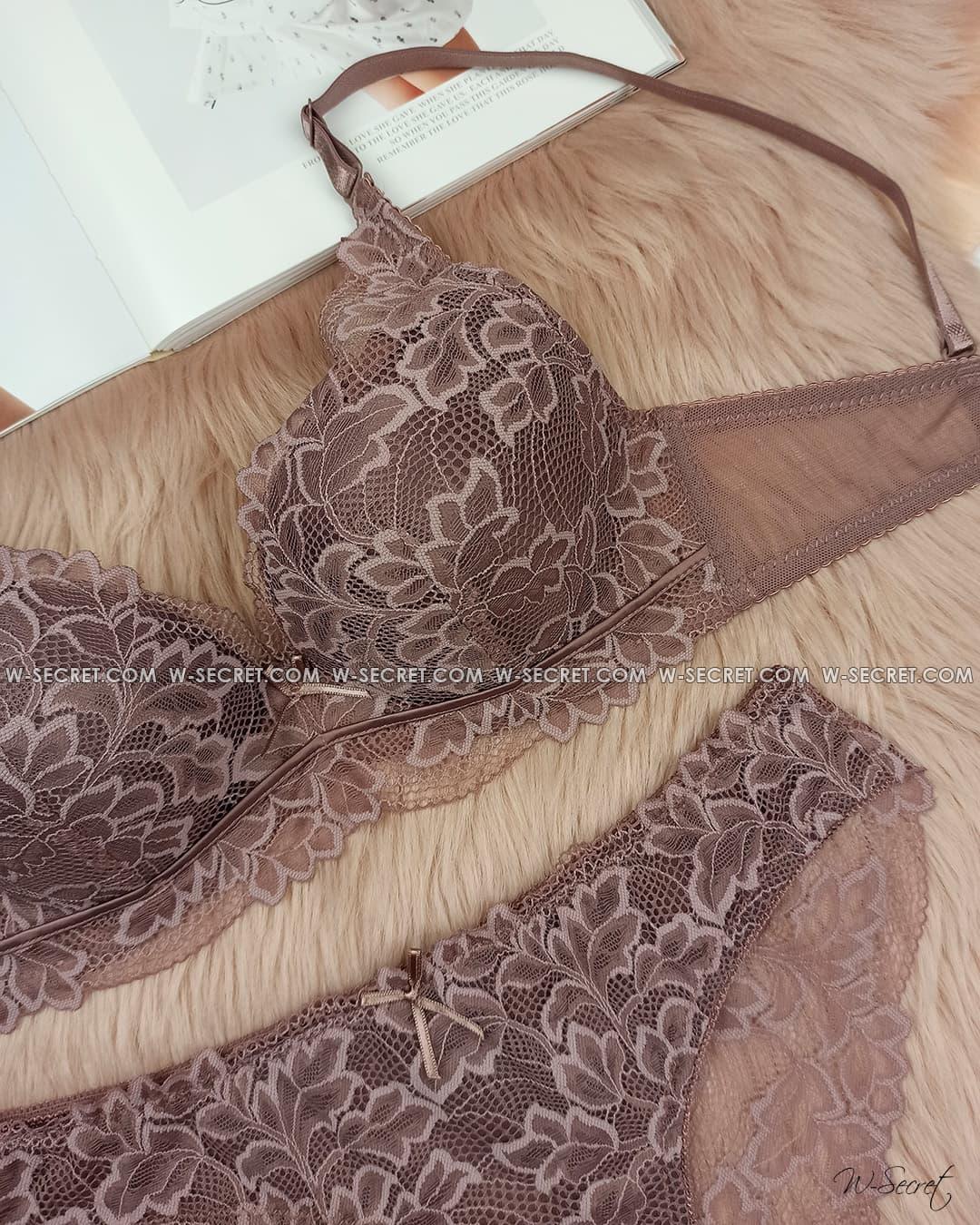 Weiyesi 7081 C Шоколадний комплект нижньої білизни