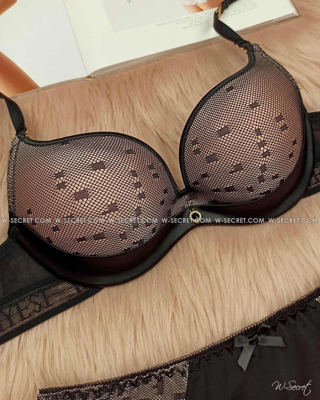 Weiyesi 2123 B Черно-бежевый комплект нижнего белья