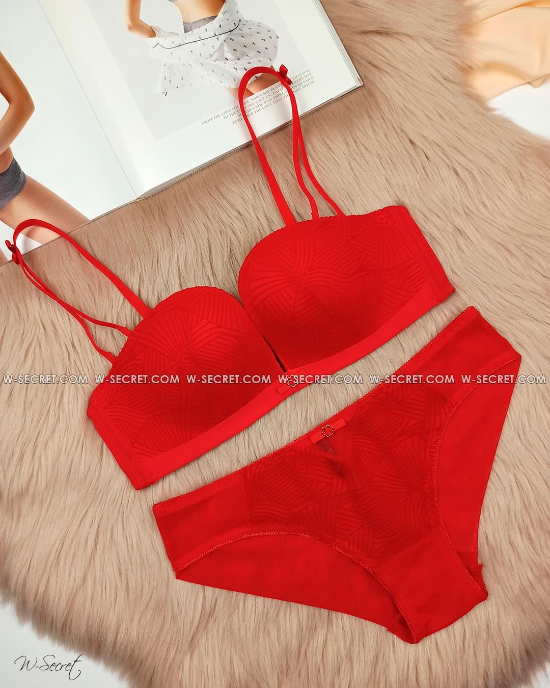Weiyesi 7073 B Красный комплект нижнего белья